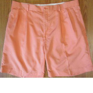 ALAN FLUSSER PLEAED POLY/COTTON BLEND SHORTS